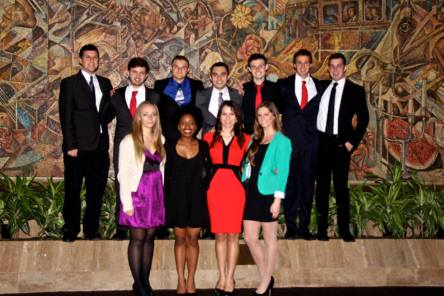 American Meteorological Society Conference in New Orleans with some members of the Rutgers Meteorology senior class