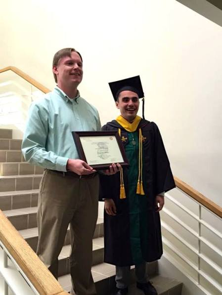 Me receiving the Meteorology Student of the Year Award